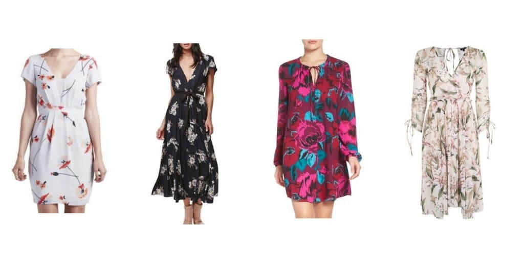 Winter-to-Spring Floral Dresses