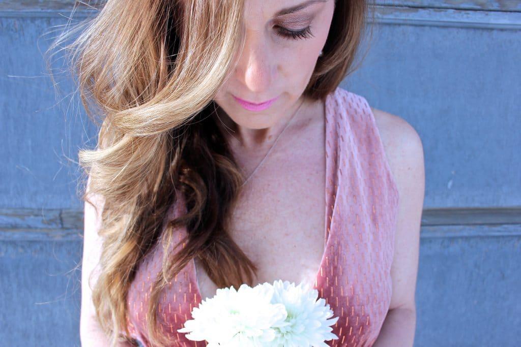 Pink Velvet Midi Dress-5