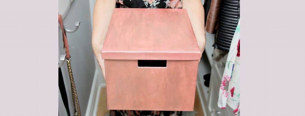 DIY: Simple Rose Gold Storage Box
