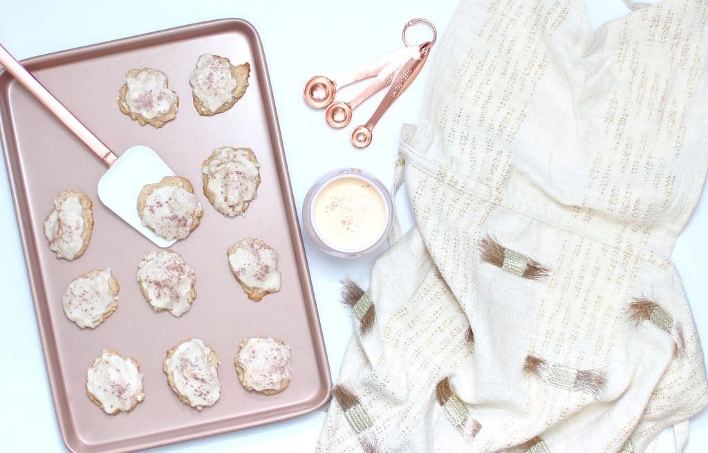 Rose Gold Eggnog Cookies