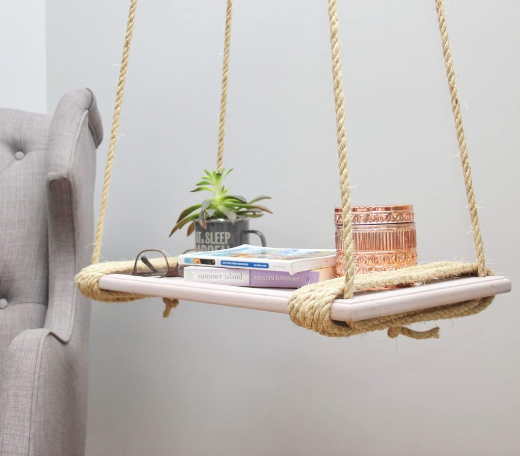 Make A Hanging Nightstand For Under $20!