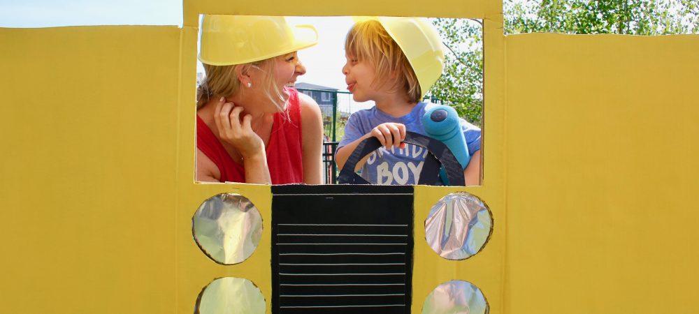 DIY: Dump Truck Photo Booth