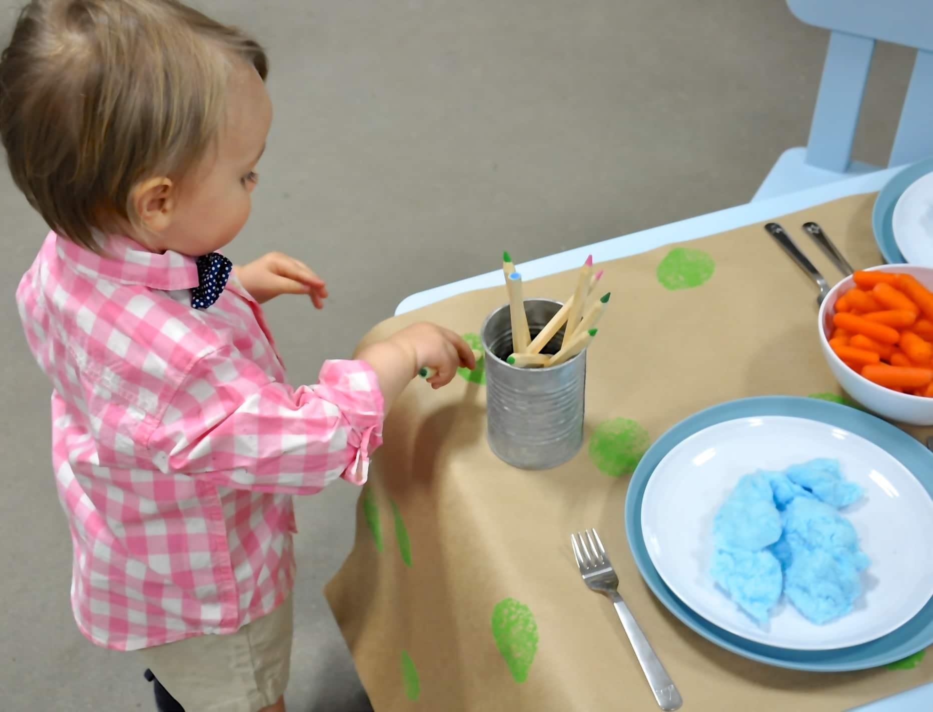 Easter Brunch Toddler Table-8