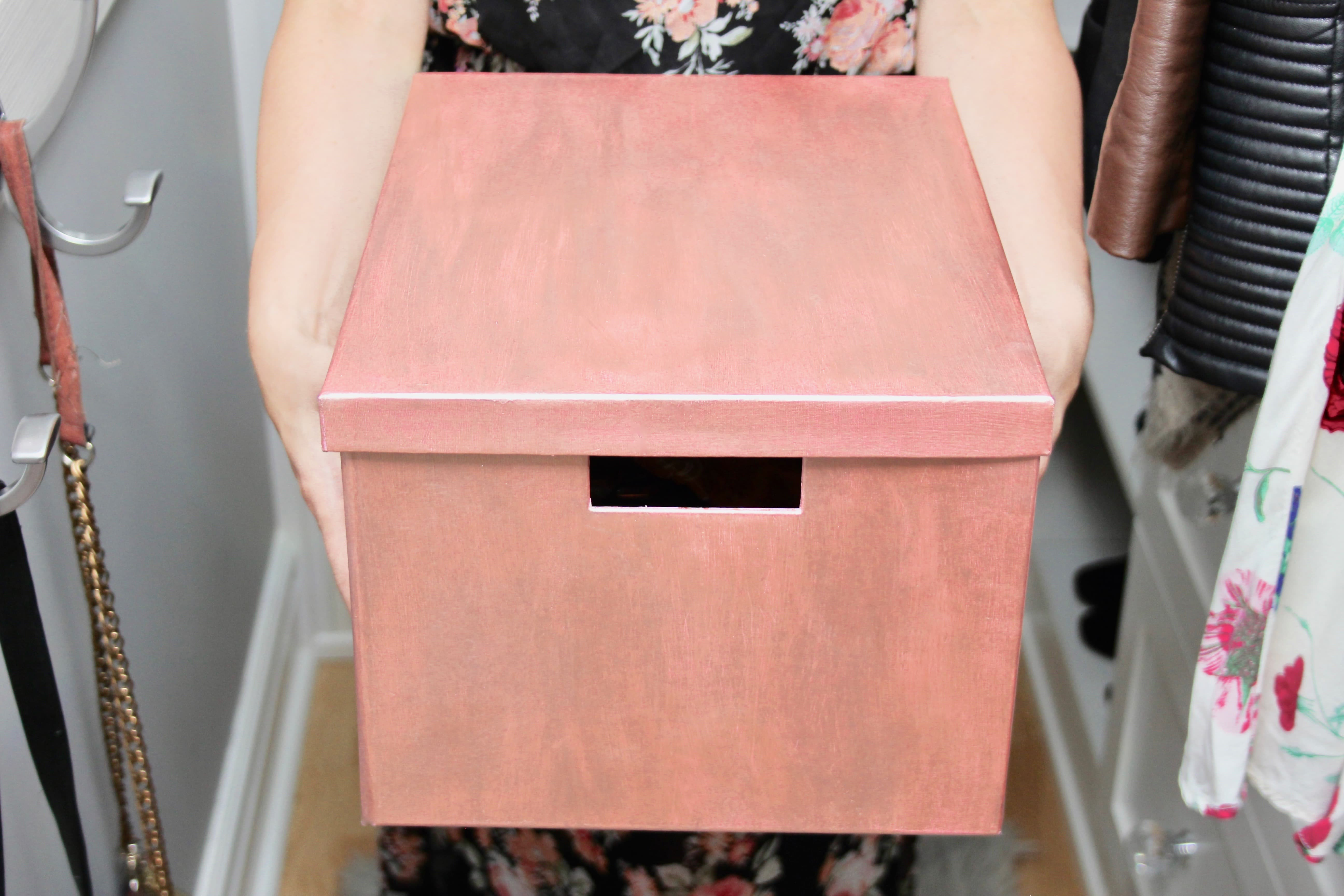 Rose Gold Storage Box-1