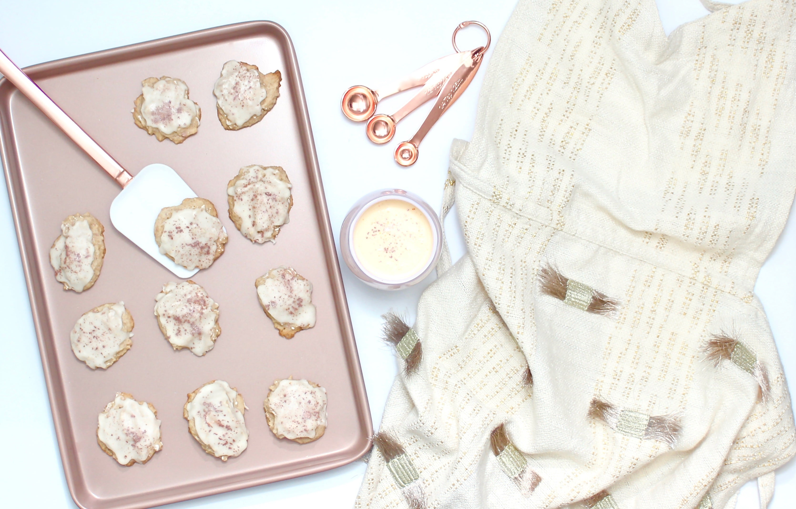 Rose Gold Eggnog Cookies-1
