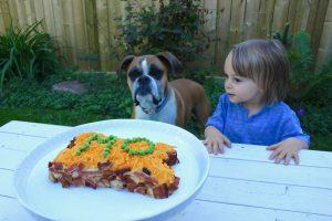 Dog birthday cake bison and bacon-4