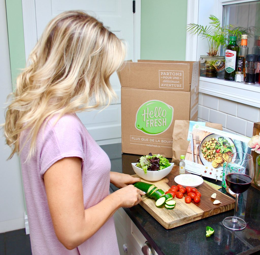 Box Inside Meal Kit Delivery Service Hellofresh