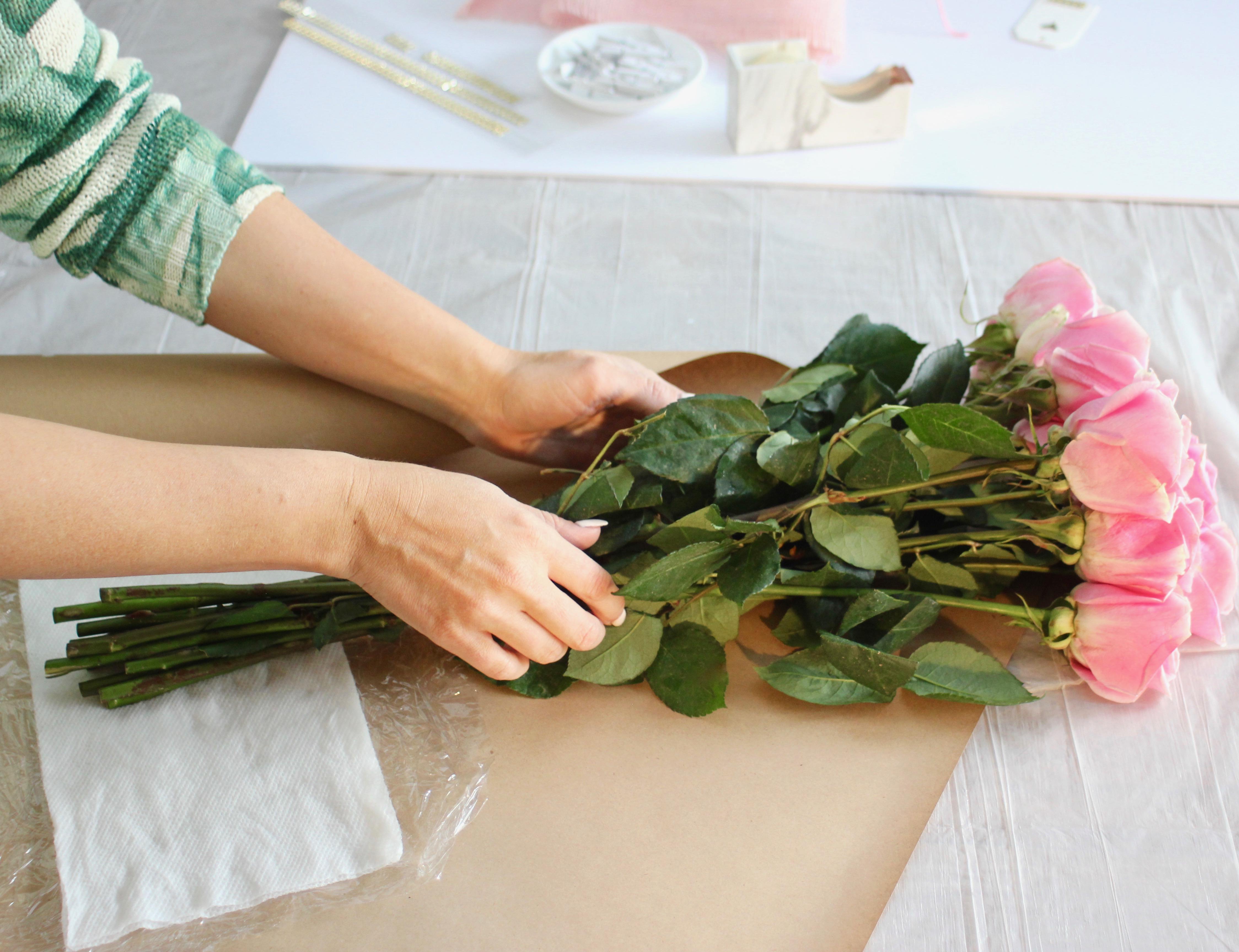 Polka Dot Floral Wrap-11
