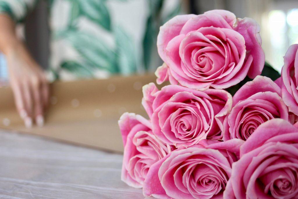 Pretty Polka Dot Floral Wrap DIY