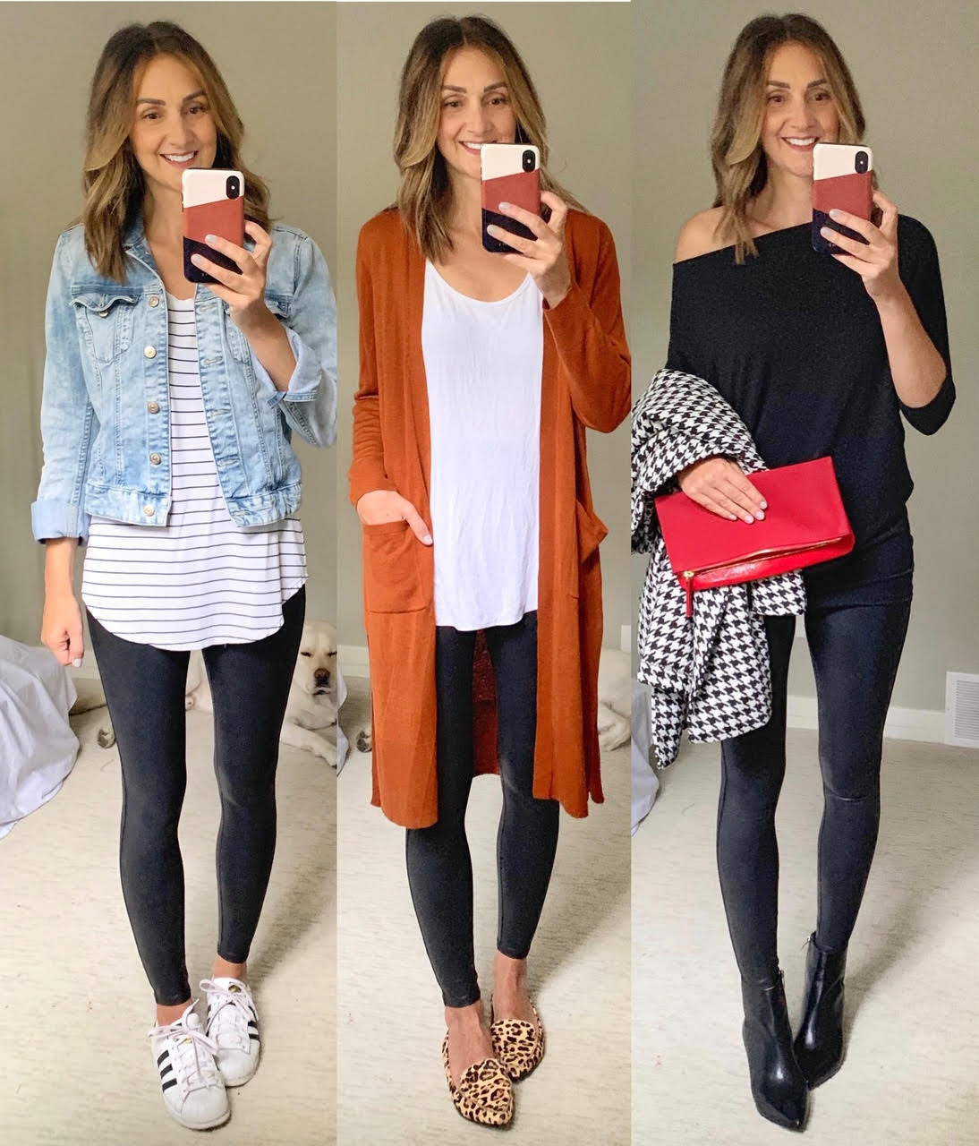 How To Style Spanx Faux Leather Leggings-9