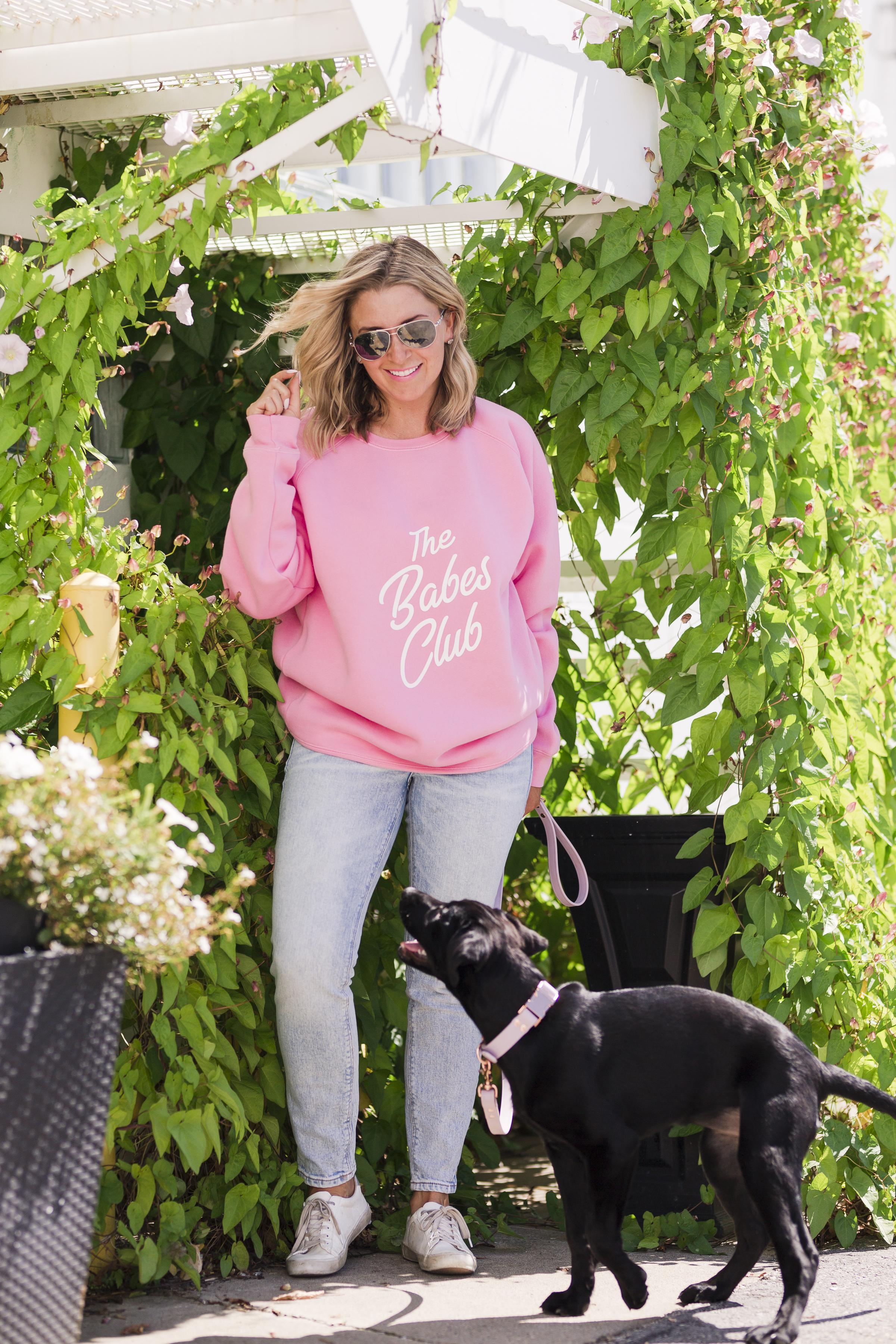 Candy Pink Babes Club Sweatshirt-1