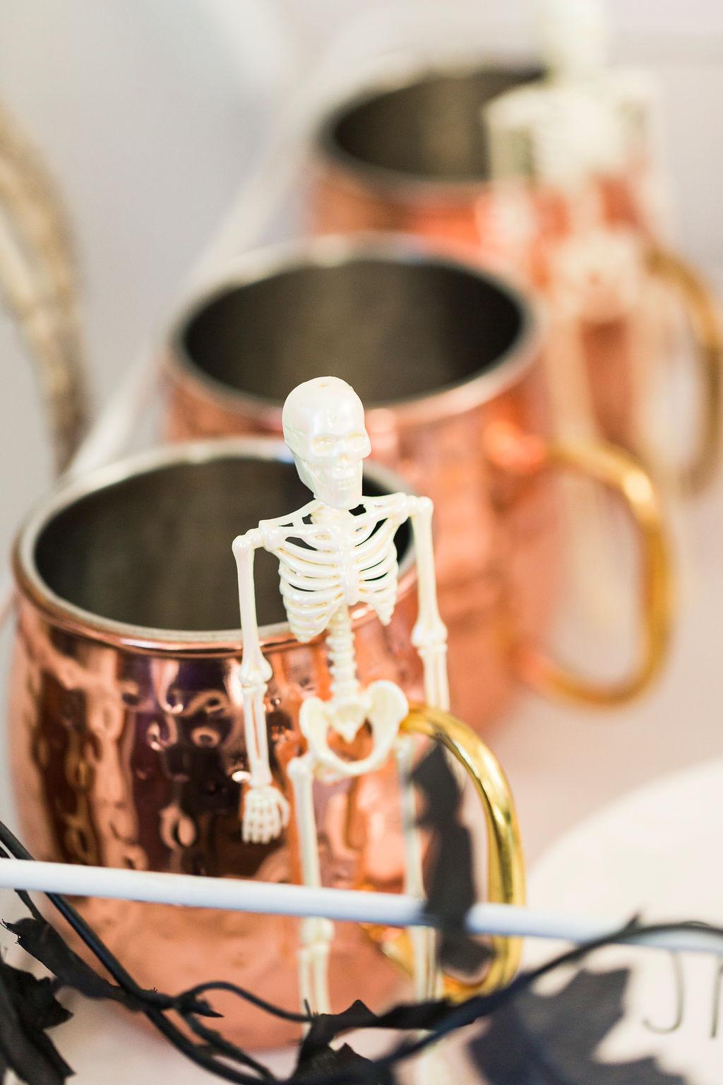 spooky chic Halloween coffee cart-3