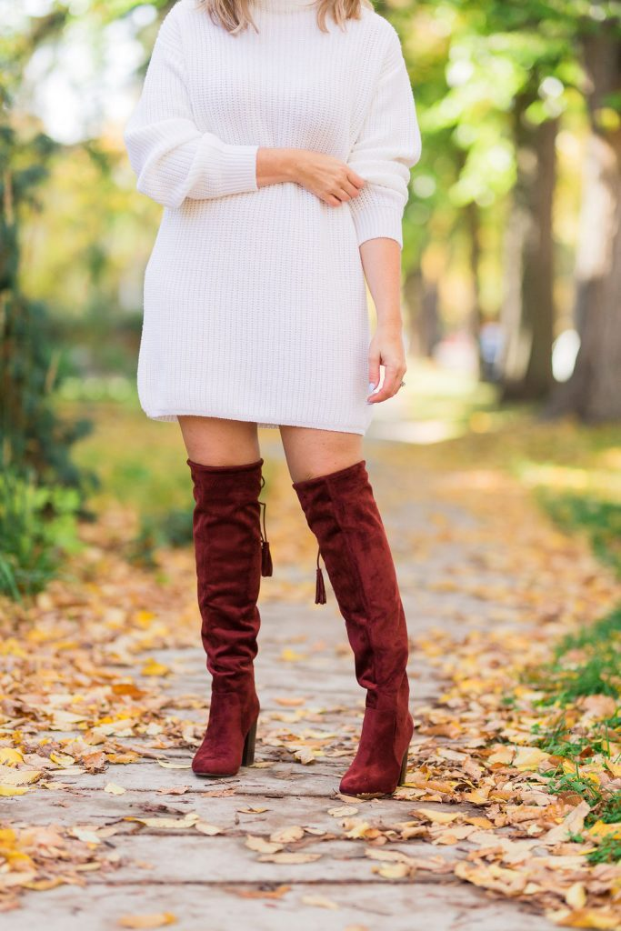 Over-The-Knee Tassel Boots