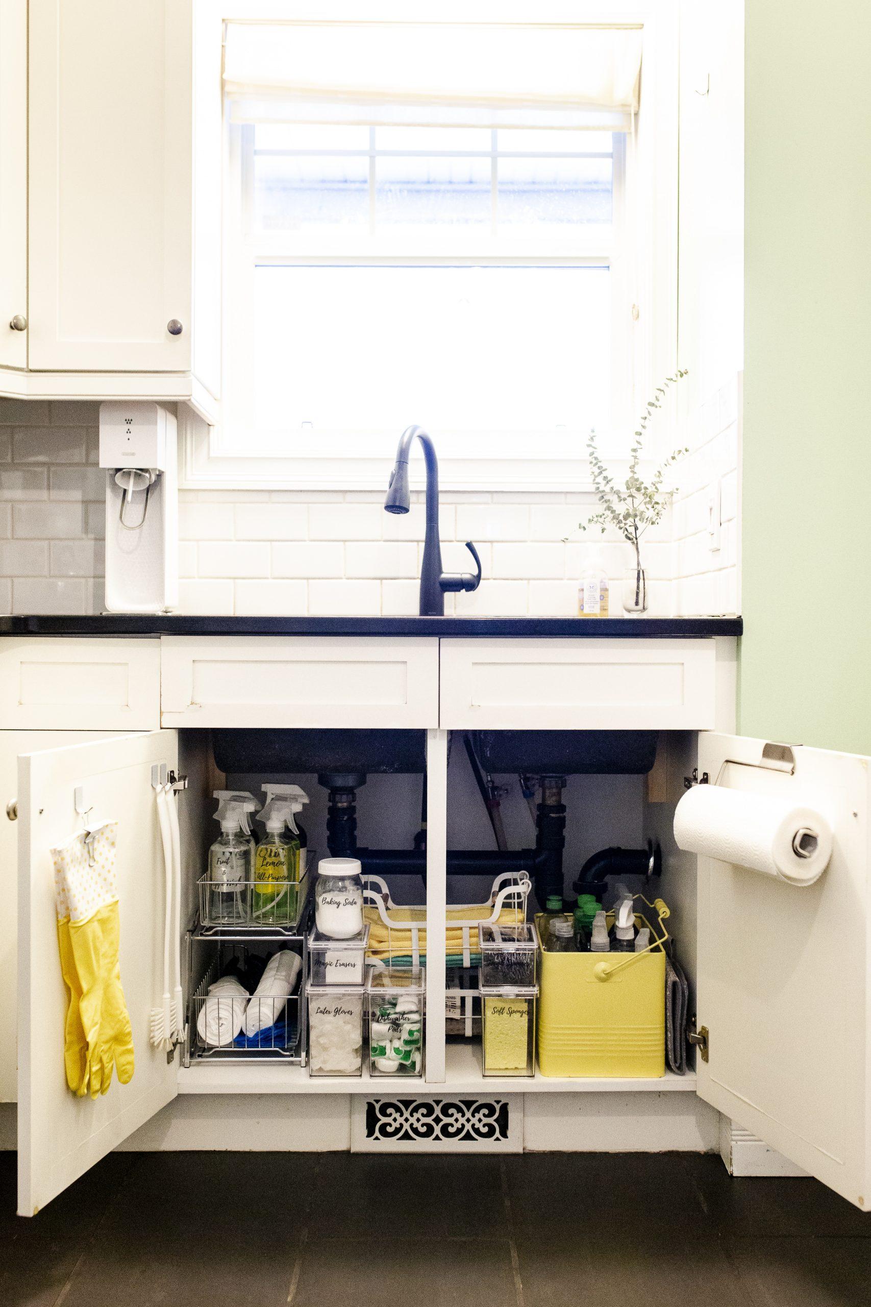 How To Organize Under Your Kitchen Sink-1