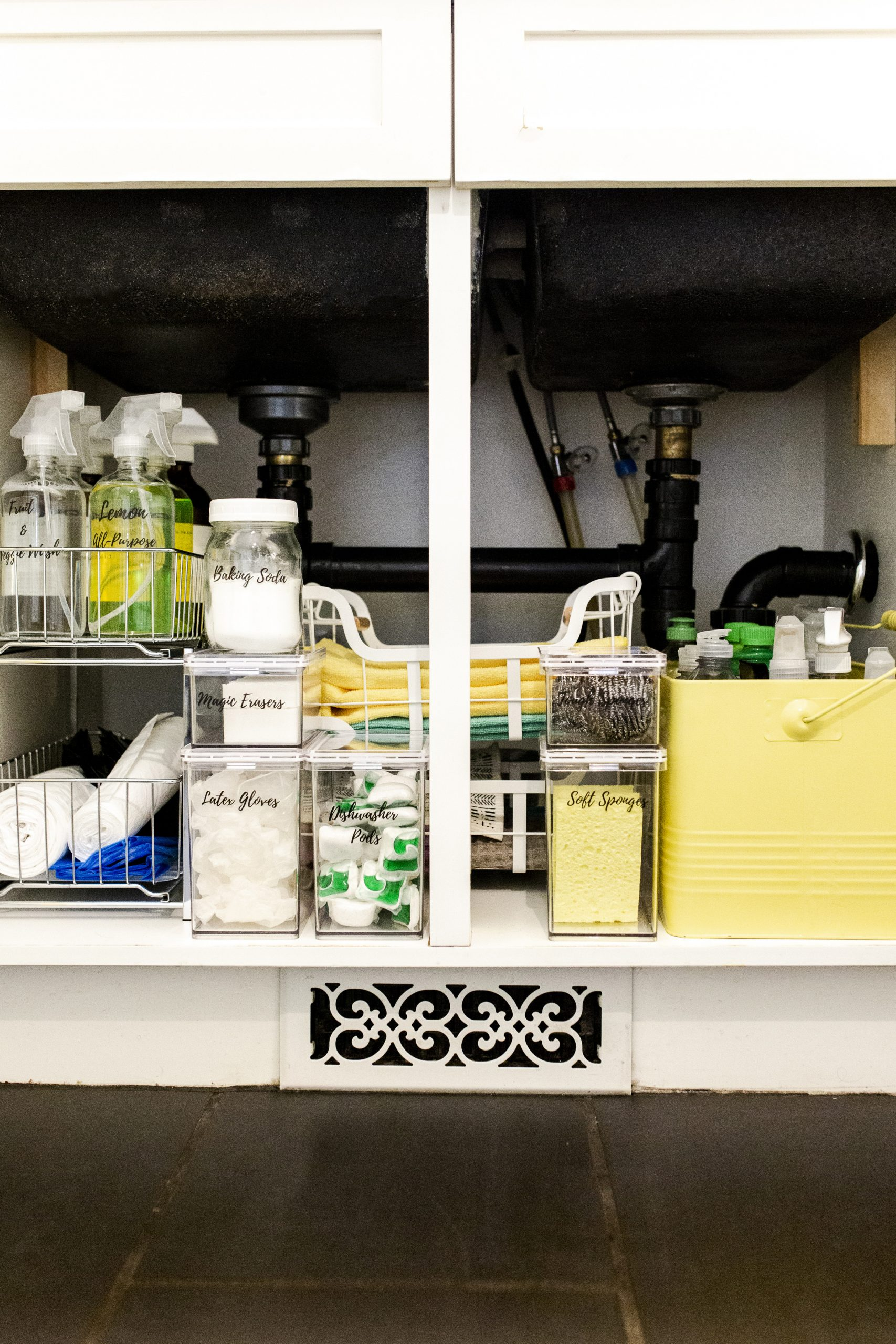 How To Organize Under Your Kitchen Sink-2