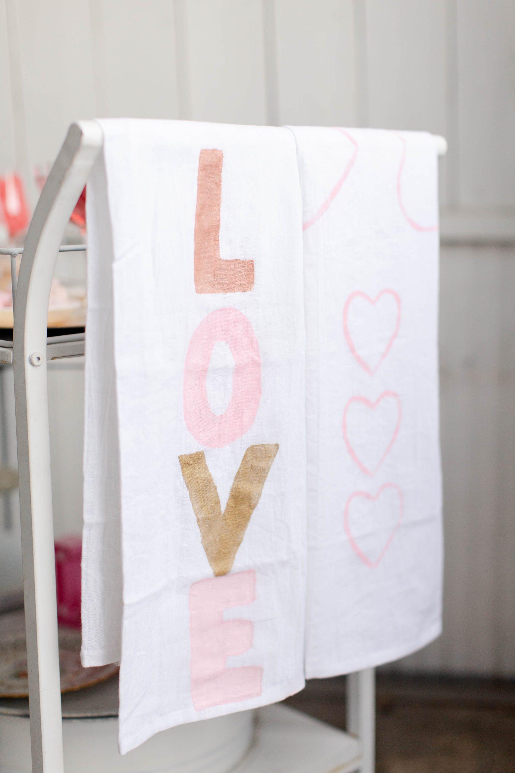 DIY Hand-painted tea towels-2
