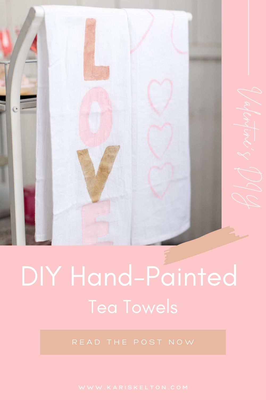 DIY Hand-painted tea towels-7