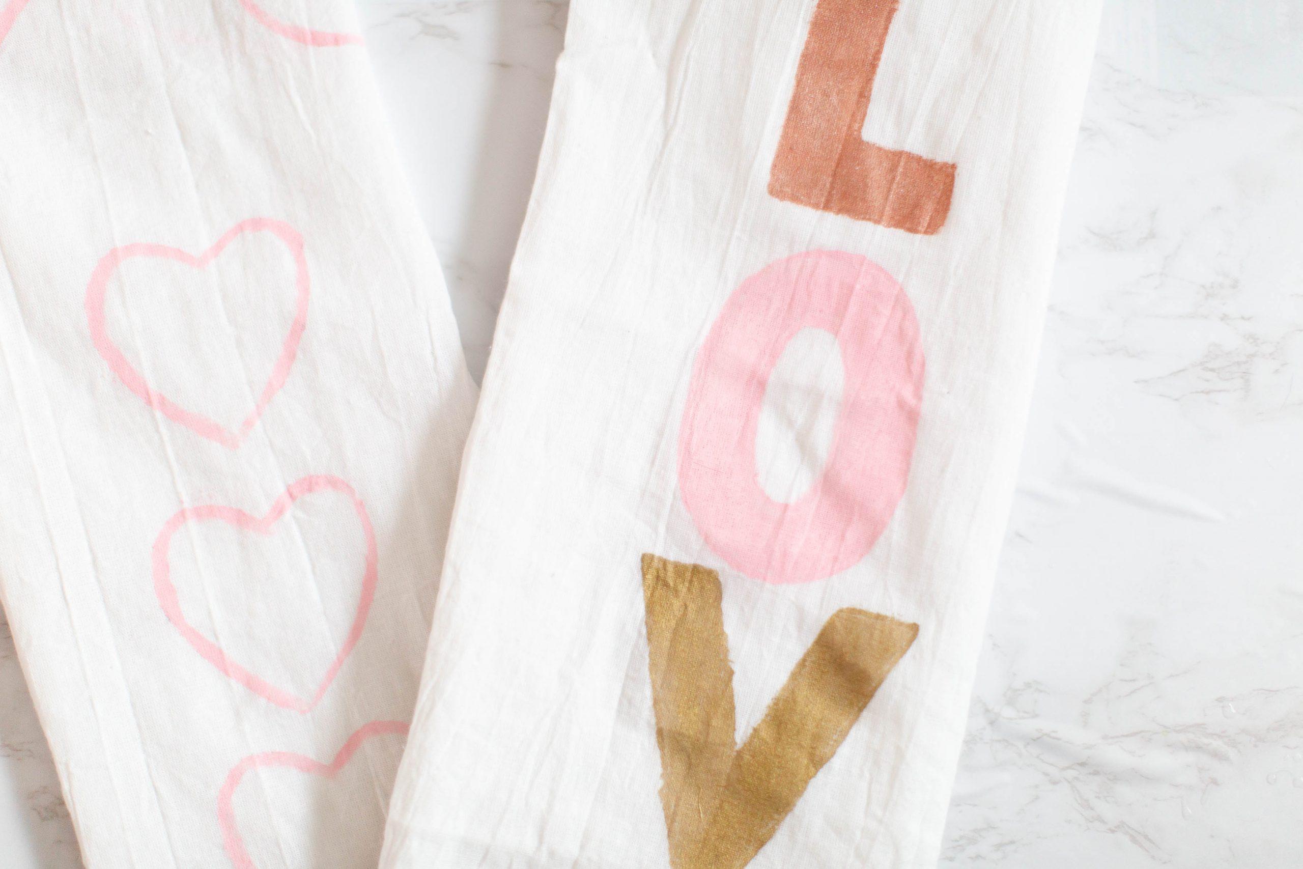 DIY Hand-painted tea towels-1