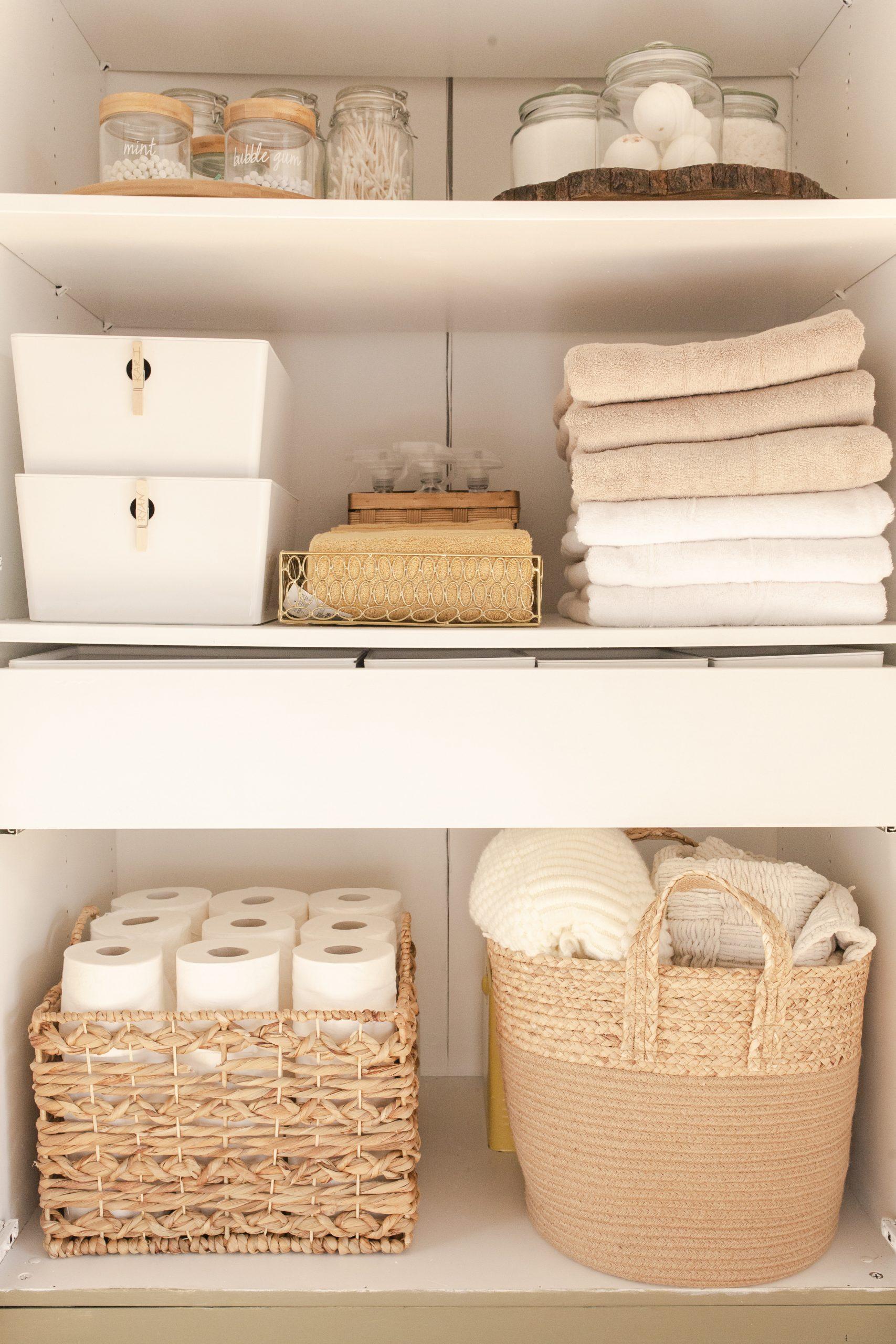 Ikea Hack: Wardrobe Turned Linen Closet-6
