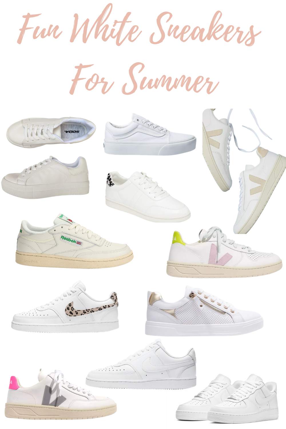 fun white sneakers for summer-5