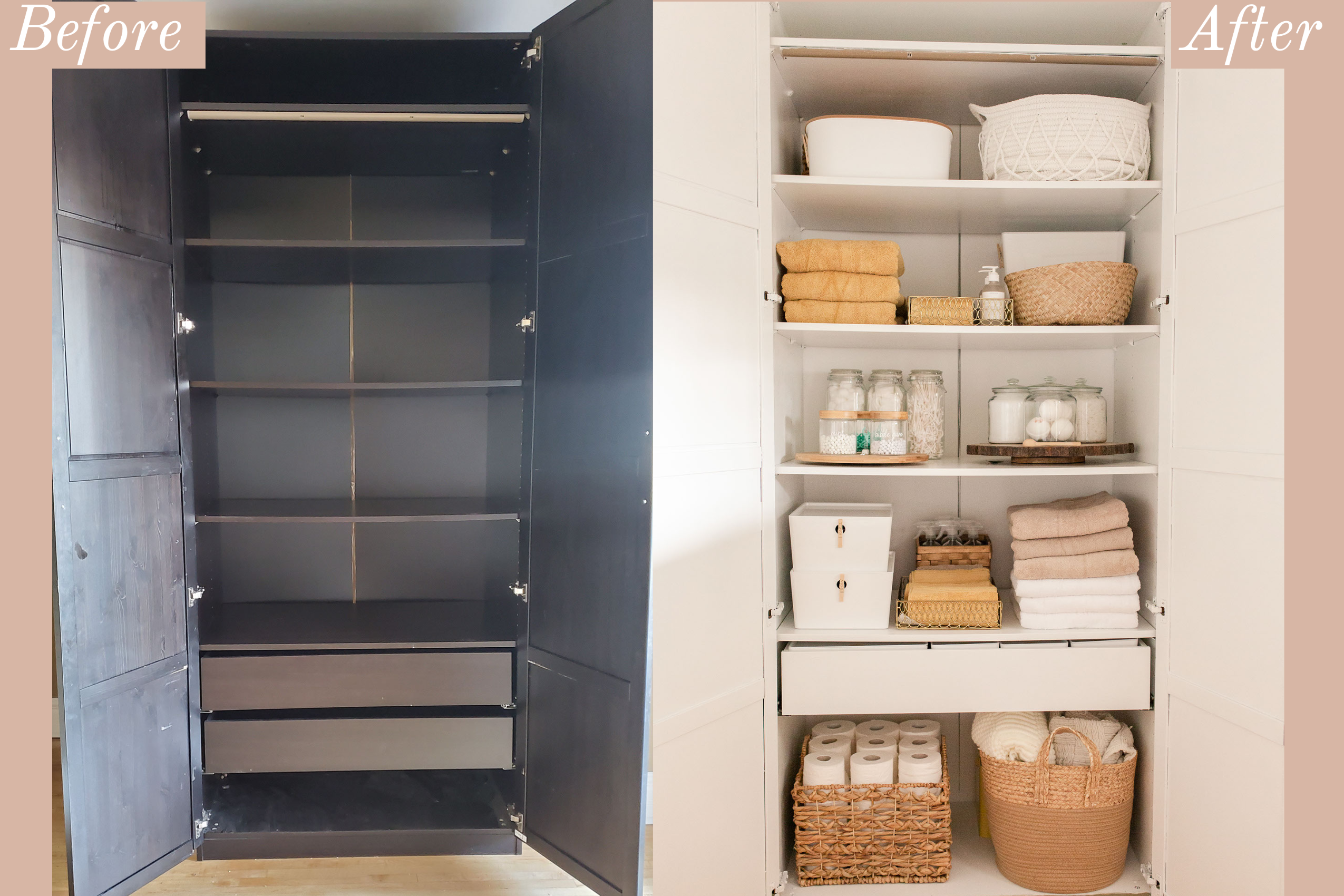 Ikea Hack: Wardrobe Turned Linen Closet-3